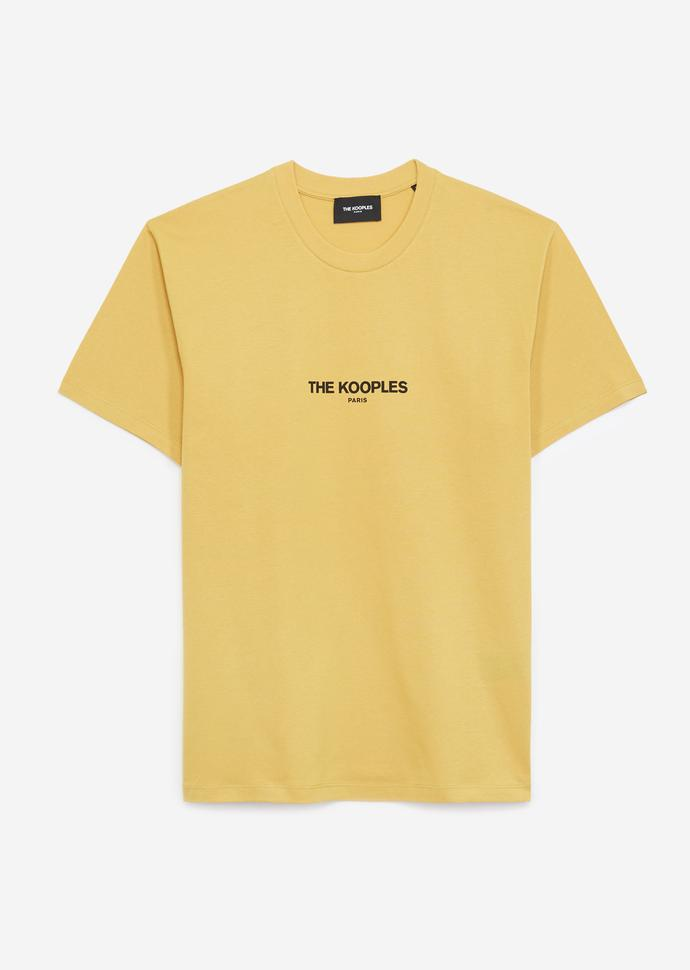 THE KOOPLES LOGO BASKILI ERKEK SARI T-SHIRT