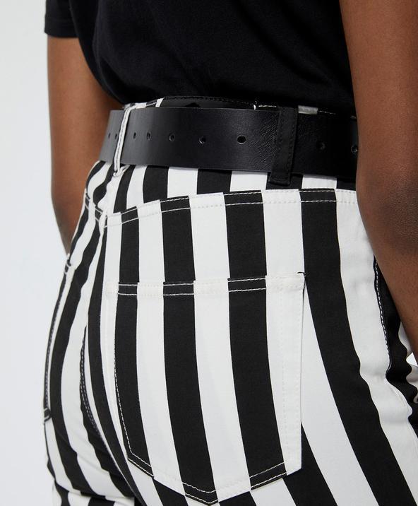 Kadın Skinny Siyah Deri Kemer